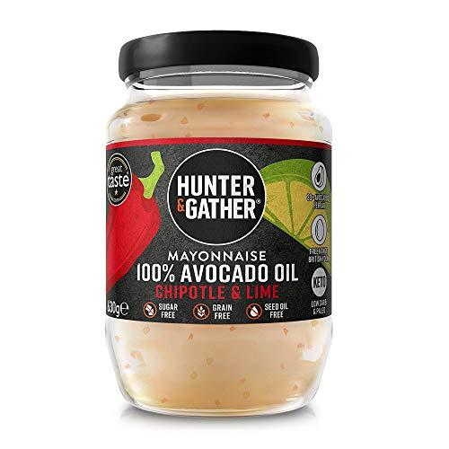 Hunter & Gather Mayonesa de Aceite de Aguacate con Chipotle y Lima 630g   Hecho con Aceite de Aguacate Puro y Yema de Huevo de Gallina Campera Inglesa   Paleo, Ceto / Keto, Libre de Gluten y Azúcar