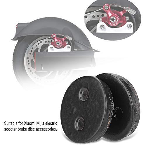 Changor Disco de Freno de Scooter eléctrico Resistente a la oxidación, Dispositivo de Freno de Disco de Material de Fibra de Metal de 4 mm / 0,16 en Material con Material de Metal y Fibra (Negro)