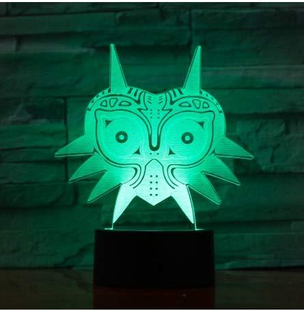 La luz de noche LED para decoración de dormitorio cambia de color La luz de noche LED le da un regalo único