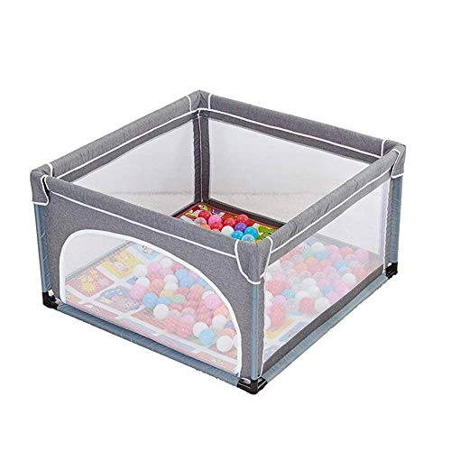 Great Deal! Z-SEAT Foldable Safety Fence Playpens, Portable Children Safety Fence with Alloy Steel P...