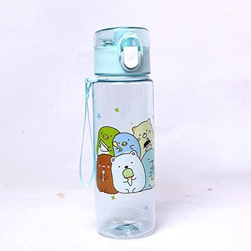 LLKK Plastico Water Bottle,Cuatro Colores,Water Bottle,Taza de Agua de plástico de una Sola Caricatura,Adecuada para Agua Potable Botella de Agua de plástico