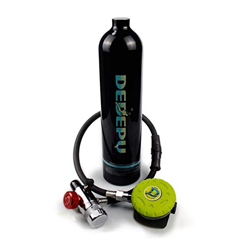HEQIE-YONGP Buceo Equipo de Buceo bombonas de oxígeno La respiración Snorkel Equipo de Buceo Buceo Accesorios 1L Cilindro de oxígeno del respirador del Tanque de Recarga Adaptador-2 (Color : Blanco)