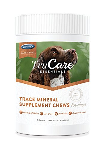 TruCare Essentials Trace Mineral Supplement Chews for Dogs, 180 Count Jar (Zinc, Biotin, Vitamin A)