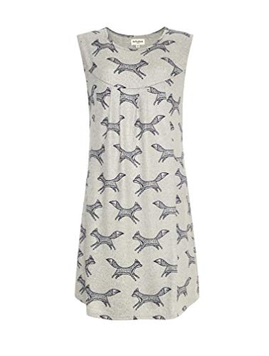 Pattern Shift Dress for Women from LaVieLente Soft Stretchy Jersey Fabric Unique Print Casual Fall Dress w/Pockets (Grey, Medium)