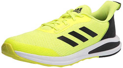 adidas Fortarun Cross Trainer, Solar Yellow/Black/White, 5.5 US Unisex Big Kid