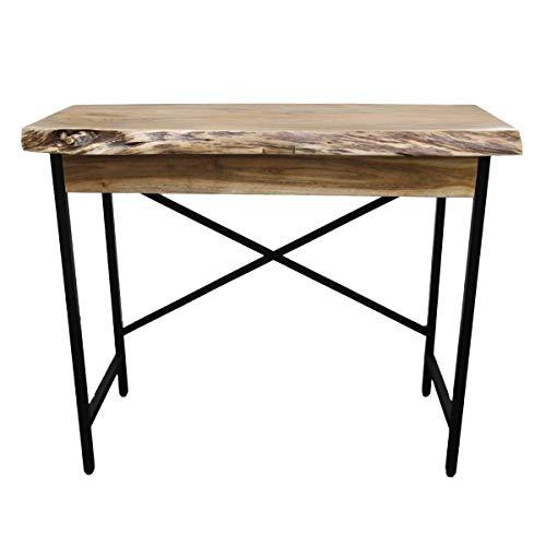 Konsolentisch mit Schublade, Sideboard, Schreibtisch, Massivholz, Akazienholz, Beistelltisch