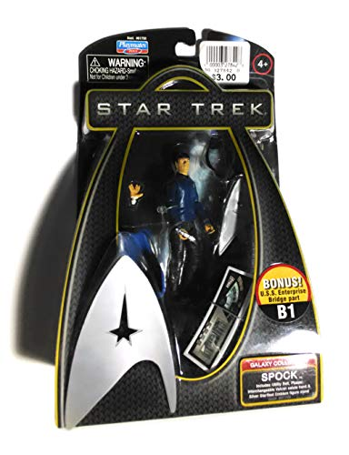 Star Trek - 61783 - Galaxy Bonus Collection - Action Figure - Spock Original - ca. 10 cm - with Bonus Part T4 for the USS Enterprise Transporter Room