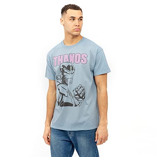 Marvel Thanos Camiseta, Azul, XL para Hombre