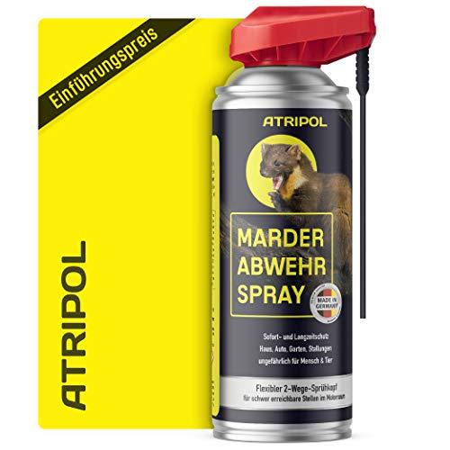Atripol 400ml Marderspray für Auto, Dachboden & Haus I Anti-Marder-Spray zur tierfreundlichen Marderabwehr I Mader Abwehr, Marderschreck, Marderschutz