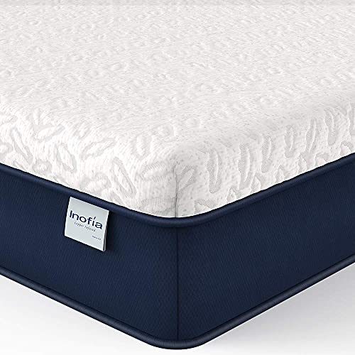 Full Mattress 10 Inch, Inofia Cooling Copper Adaptive Memory Foam Mattress with CertiPUR-US Bed Mattress in a Box for Sleep Cooler & Pressure Relief Supportive, Made in USA