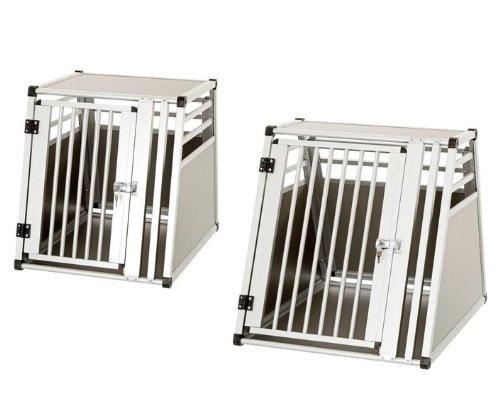 PKW Alu - Auto Hundebox - Alu Autobox - Hundebox Aluminium-Transportbox Hundekäfig L= 75 cm /55 cm /62 cm