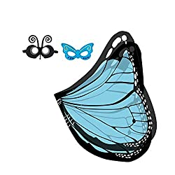 top rated Party Richeman costume, butterfly feather scarf made of soft fabric, pixie (blue butterfly) fairy accessories 2021