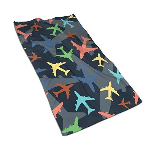 Pizeok Aviones más pequeños Multicolores Toallas de Mano de Fibra extrafina Toalla de Playa Ultra Suave Toalla de baño para Piscina para niños