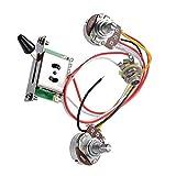 Câblage Du Circuit Pour ST Guitare électrique, Boutons de commande 2T1V Commutateur 5 voies 500K Pots avec Jack pour Strat Style Remplacement de guitare, pointe noire