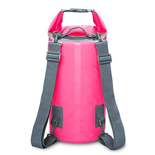 Esterna Impermeabile Dual Dry Tracolla Borsa Dry Sack, capacità: 15L (Nero) 8bayfa (Color : Pink)