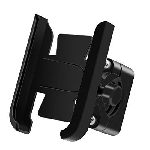 Wakauto Motorrad-Handyhalterung Handyhalterung aus Aluminiumlegierung 360 ° -Drehung Motorrad-Handyhalterung für Motorräder Geländefahrzeuge Schneemobile Dreiräder (Schwarz)