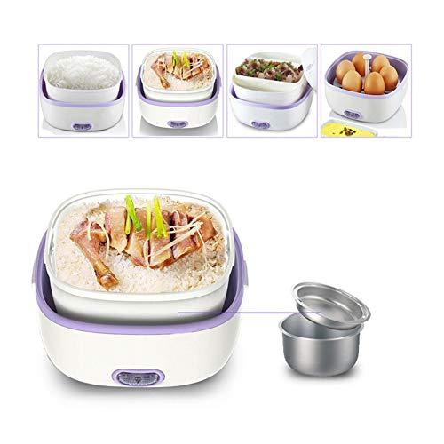 KangHan Multifunctionele elektrische broodtrommel, mini-rijstkoker, draagbare stoomkoker met roestvrij stalen schaal, maatbeker voor gebruik buitenshuis