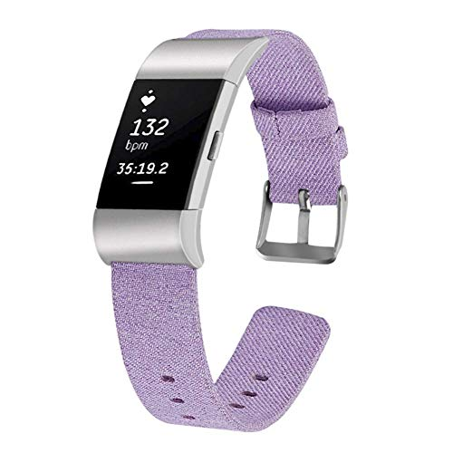 Star Supermarket heren dameshorloge band nylon canvas stofband compatibel voor Fitbit Charge 2 sportarmband fitness vervanging armband cadeau sporthorloge band fitness armband