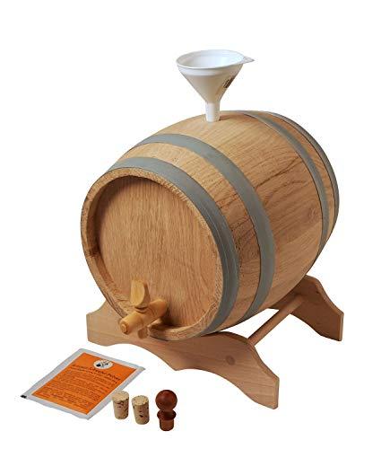 Moonshiners Choice Holzfass 2 Liter mit Zubehör - Top Geschenkidee zum selber füllen - Eichenholzfass