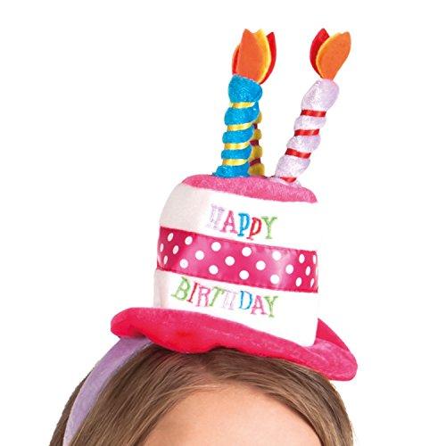 Boland 00940 - Haarreif Minihütchen Happy Birthday, Einheitsgröße, Mehrfarbig