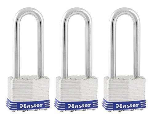 Master Lock Padlock, Laminated Steel Lock, 1-3/4 in. Wide,...