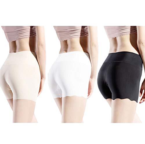 Boomly Donne Mutande sotto Gonna/Vestito Pantaloni Corti Intimo Invisibile Pantaloncini da Yoga Nessuna Traccia A Vita Alta Pantaloni di Sicurezza Senza Soluzione di continuità Slip Boxer Hipster