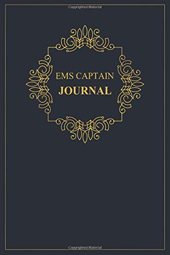 EMS Captain Journal: A classy black and gold EMS Captain Journal for day-to-day work