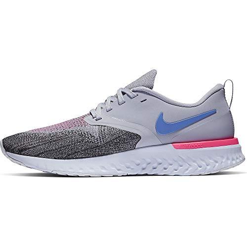 Nike Odyssey React Flyknit 2, Running Shoe Mujer, Indigo Haze/Sapphire/Negro/Iron Purple, 39 EU