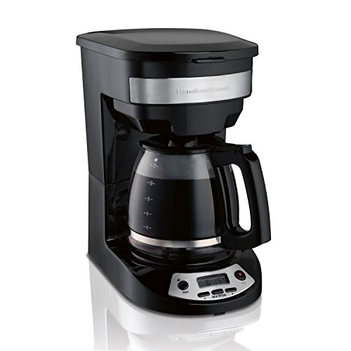 Hamilton Beach 12 Cup Programmable Coffee Maker, Brew Options, Glass Carafe (46299),...