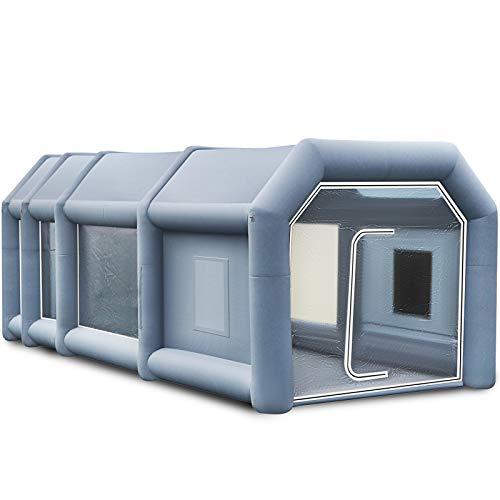 VEVOR 12x5x4m Aufblasbare Lackierkabine Zelt Spritzkabine Zelt Luftzelt Campingzelt Lackierkabine mit 2 Gebläse