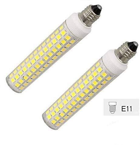T3 T4 LED JDE11 Light Bulbs 80W Equivalent jd Mini can Bulb   E-11 Mini-Candelabra Base Ceiling Fan Light Bulb jde11 Replacement Halogen ppe11b100 Bulb AC100V-130V Pack of 2 (Daylight White 6000k)