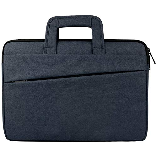Universal Double Side Pockets Wearable Oxford Cloth Soft Handle Portable Laptop Tablet Bag, For 15.6 inch and Below durable (Color : Navy Blue)