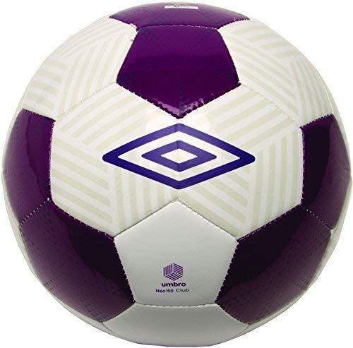 Umbro Neoprene Mazza 150 Pallone D'ALLENAMENTO Calcio - Bianco/UVA/Blackberry, Taglia 5