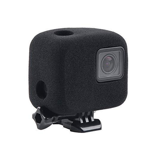 Schaumstoff-Windschutzscheiben-Gehäuse für GoPro Hero 7/6/5 schwarz – Windschutzscheiben-Geräuschunterdrückung für Outdoor-Audio-Videoaufnahmen