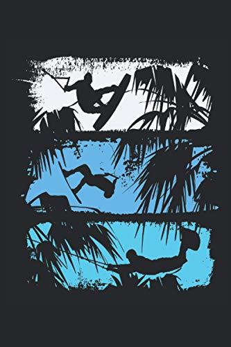 Wakeboard Silhouetten Palmen: Wakeboard Silhouetten und Palmen.