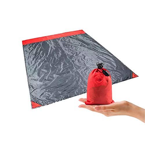 Sanddichte Stranddecke, leichte sandfreie Picknick-Matte, übergroße wasserdichte Campingplane, multifunktionales Zelt für Reisen, Camping, Wandern, Outdoor und...