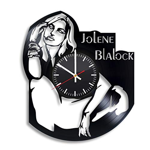 BroStore Decor Clock Compatible with Jolene Blalock Vinyl Wall Clock, Clock with The Image of The Actress, Wall Clocks for Different Types of Rooms and Premises, Art, Gift for Any Occasion