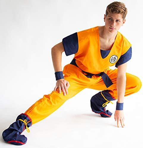 CoolChange Disfraz Cosplay de Son Goku de la Serie La Bola del dragón. Talla: S