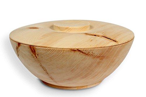 Vorratsdose aus Zirbenholz - für Brot, Getreide, Mehl, Zucker, Tee, Salz - 2-teilig: Schale & Deckel - Ø 16cm - Handmade in Austria