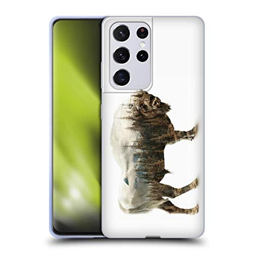 Head Case Designs Licenza Ufficiale Riza Peker Bisonte Animali 2 Cover in Morbido Gel Compatibile con Samsung Galaxy S21 Ultra 5G