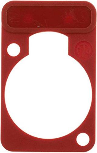Beschriftungsplatte rot, Farbige Codierplatte für XLR-Gerätestecker/-buchsen, Neutrik D-Serie (973977006037)