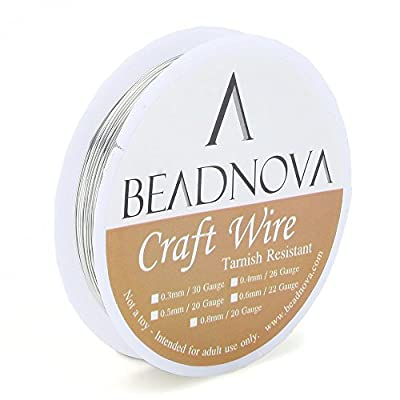 Beadnova Jewelry Wire for Jewelry Making Supply with Cutting Pliers for Wire Wrap Jewelry and Jewelry Making (5pcs,26gauge)