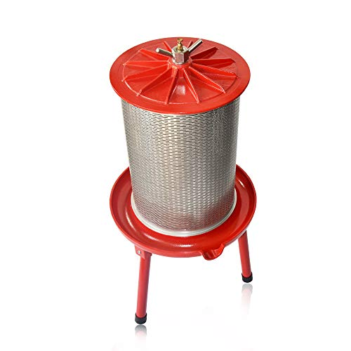 SQUEEZE master Hydraulic Fruit Wine Apple Press -5.3Gallon/20L -Stainless Steel for Wine Cider...