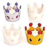 Crown Ceramic Tealight Holders (Box of 4)