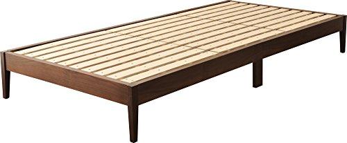 エムール 敷き布団がそのまま敷ける すのこベッド 『フランコプレミア』 シングル ウォールナット