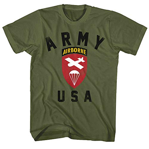 pingjin Us Army Airborne Division Badge Men's T Shirt United States of America Military