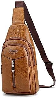 شنطة جيب للرجال- بيج - حقائب طويلة كروس