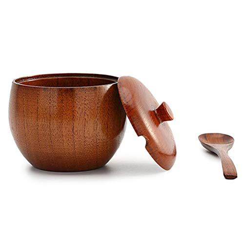 Bweele Vasetti di spezie, lattina di Sale Ciotola di Zucchero con Coperchio e Cucchiaio Lattine di Cibo per conservare Le spezie Piccoli spuntini Antipasto di Sale Zucchero