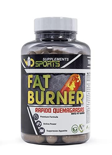 F-BURNER | Efectivo sin deporte | 90 Cápsulas Veganas | 100% Natural y Sin Aditivos | Complemento Dietético Para Mujeres y Hombres