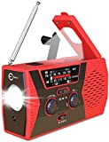 Emergency Radio, Esky 2000mAh Power Bank Solar Hand Crank Radio with LED Flashlight, NOAA Weather Radio for Emergency with AM/FM, Reading Lamp,SOS Alarm